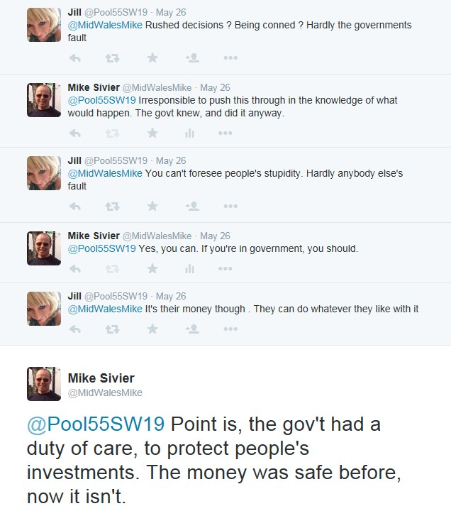 Twitter pensions dialogue