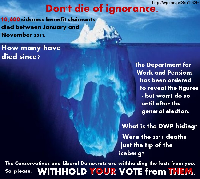 Benefit Deaths We Have Seen Just The Tip Of The Iceberg