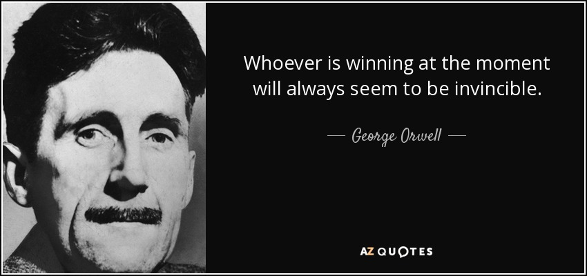 George Orwell winning