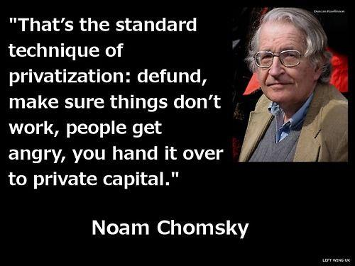 Chomsky on privatisation.