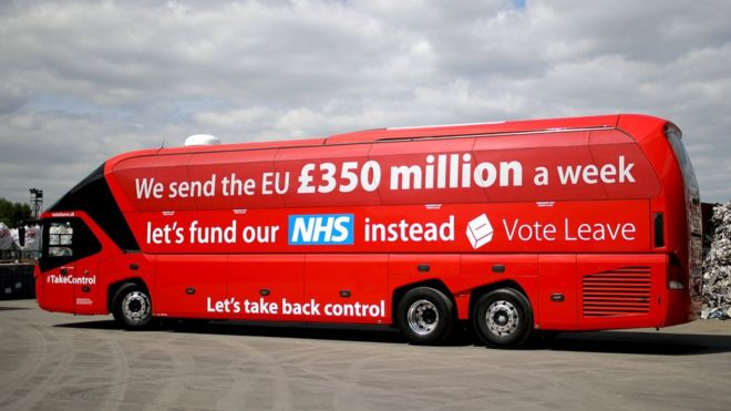 Brexit bus NHS lie